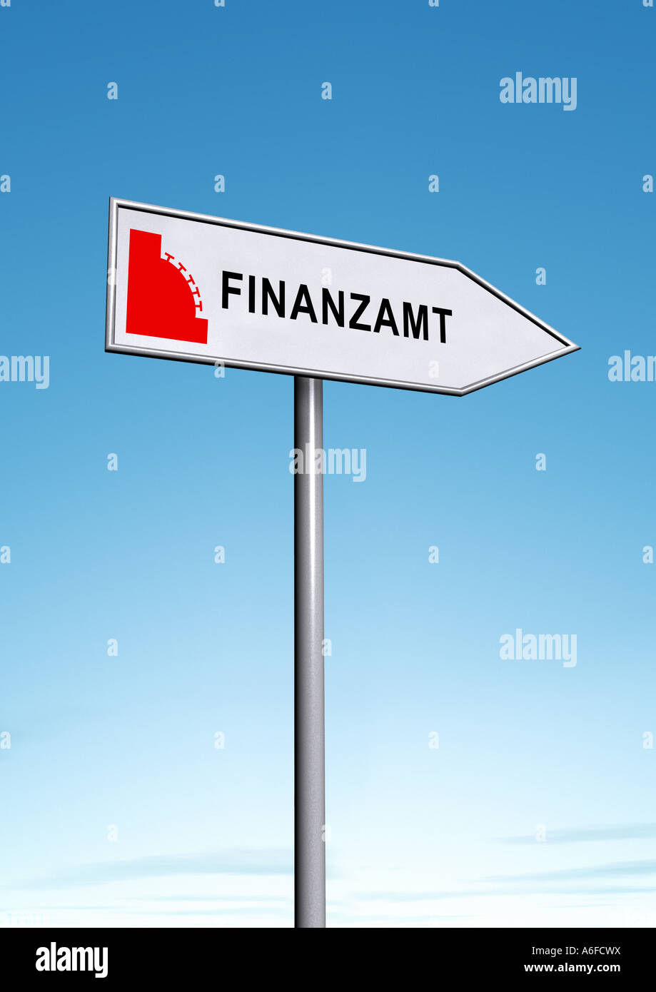 tax office Finanzamt - Stock Image