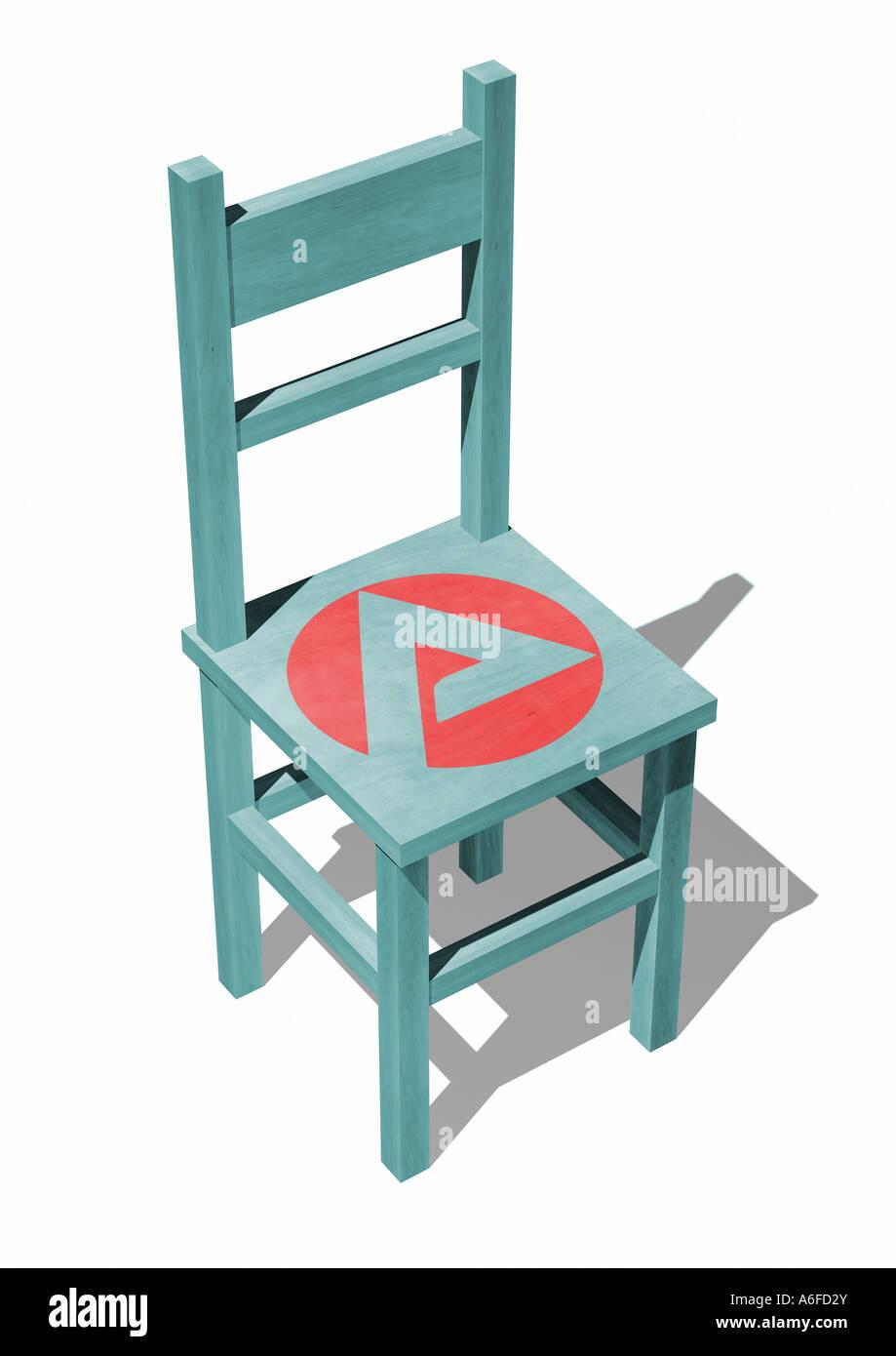 Job center chair Stuhl mit Logo Agentur für Arbeit - Stock Image