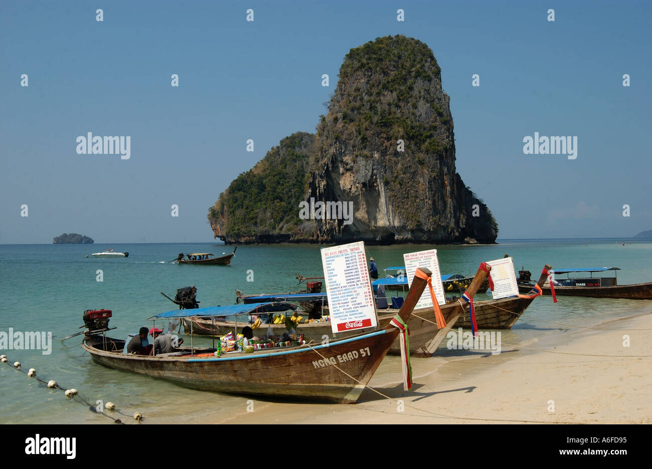 Happy Island With Long Tail Boats Display Price Lists