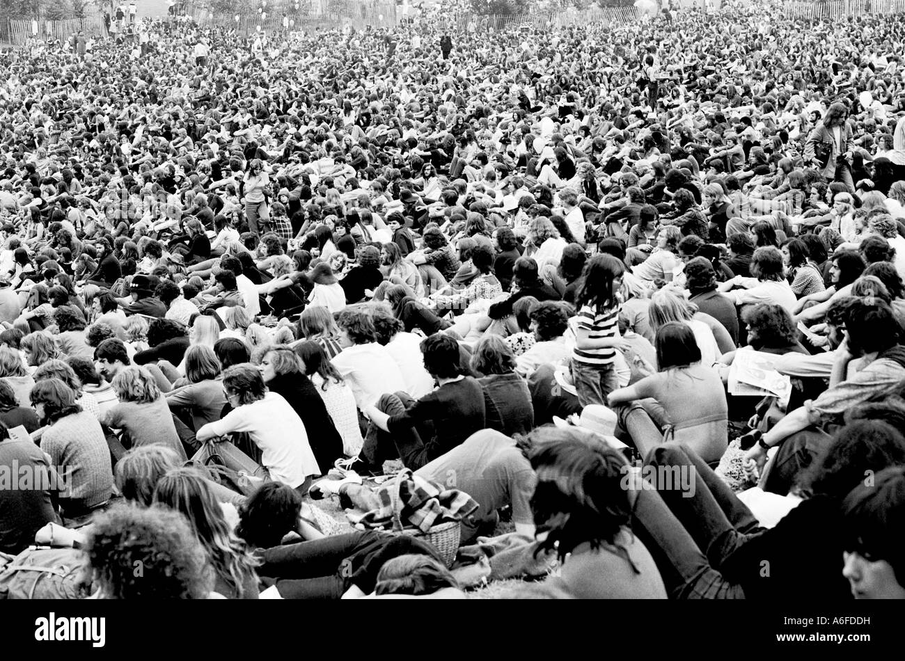 Music concert at the Crystal Palace Concert Bowl, London  in 1970. - Stock Image