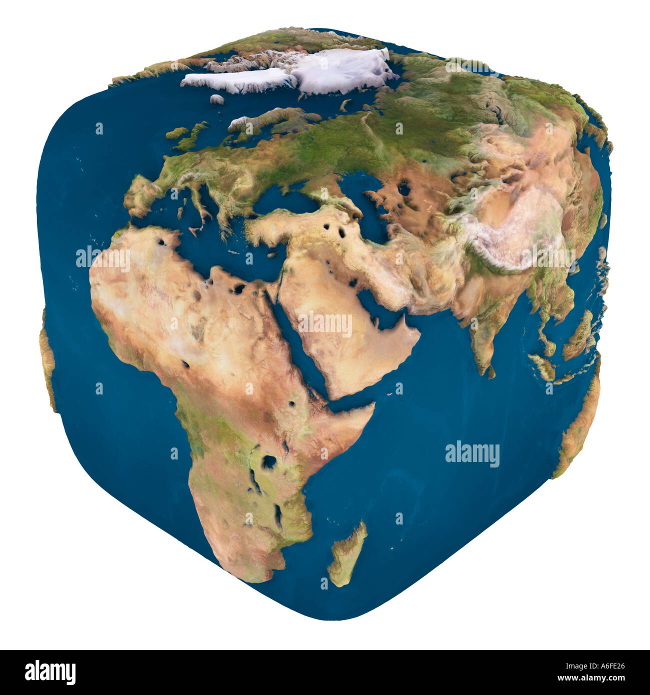 Square Earth Map.Square Earth Globe Stock Photo 458278 Alamy