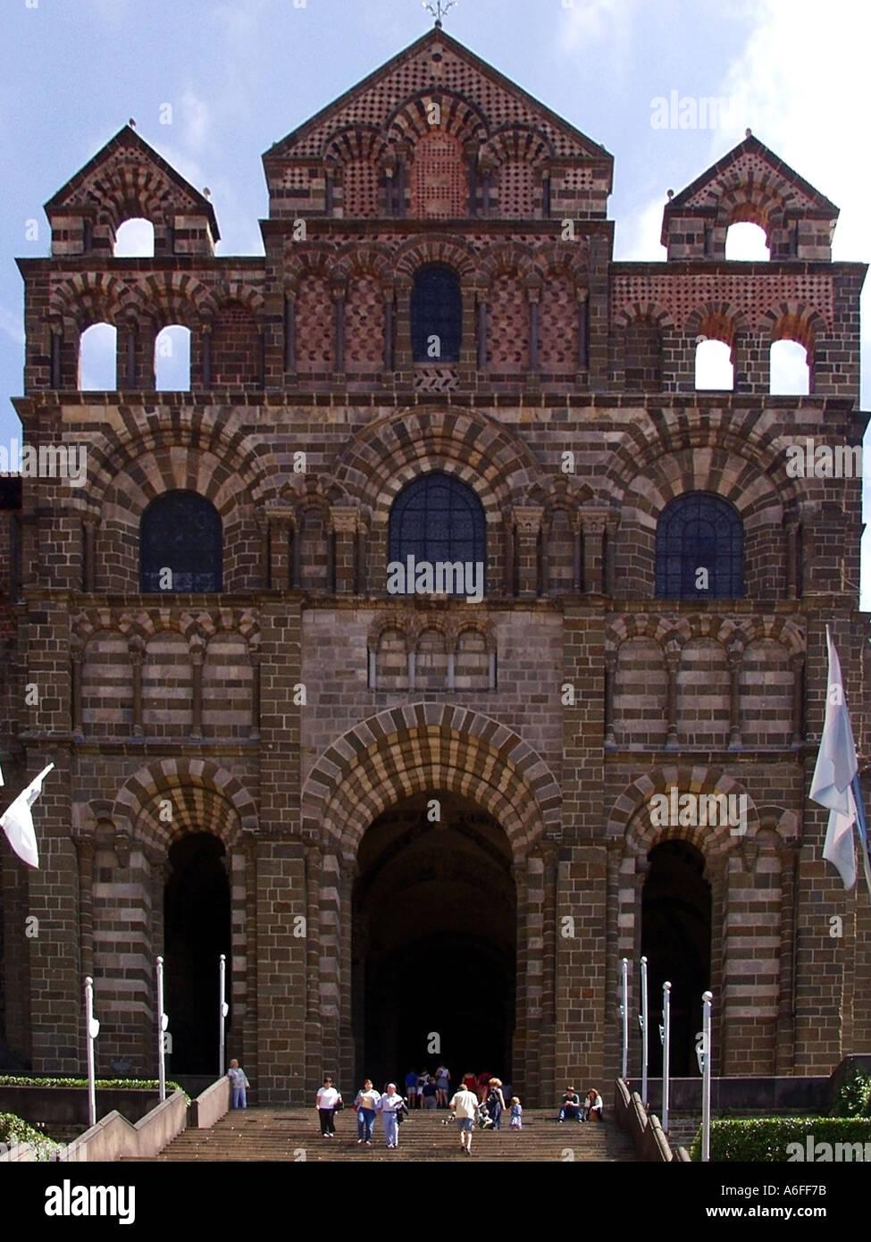 france massif central auvergne haute loire le puy en velay cathedral de notre dame Stock Photo