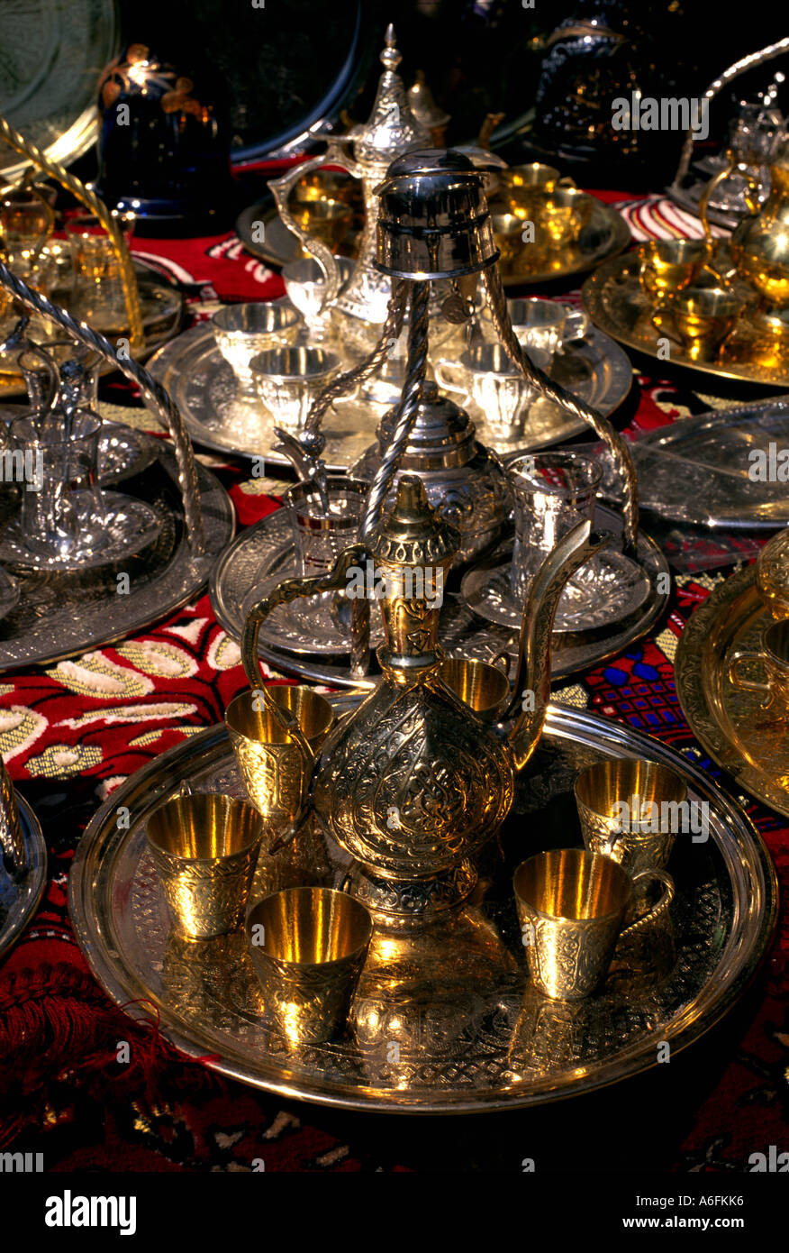 Turkey Istanbul Craft Industry Brass Stock Photo 6607221 Alamy