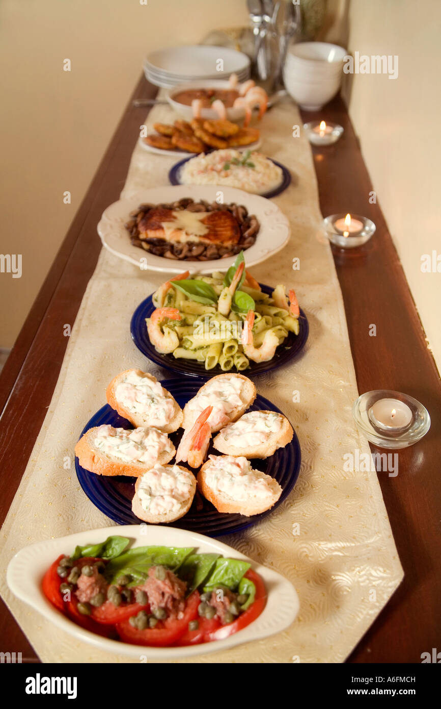 feast of the seven fishes italian style christmas eve dinner stock image - Italian Christmas Eve Menu