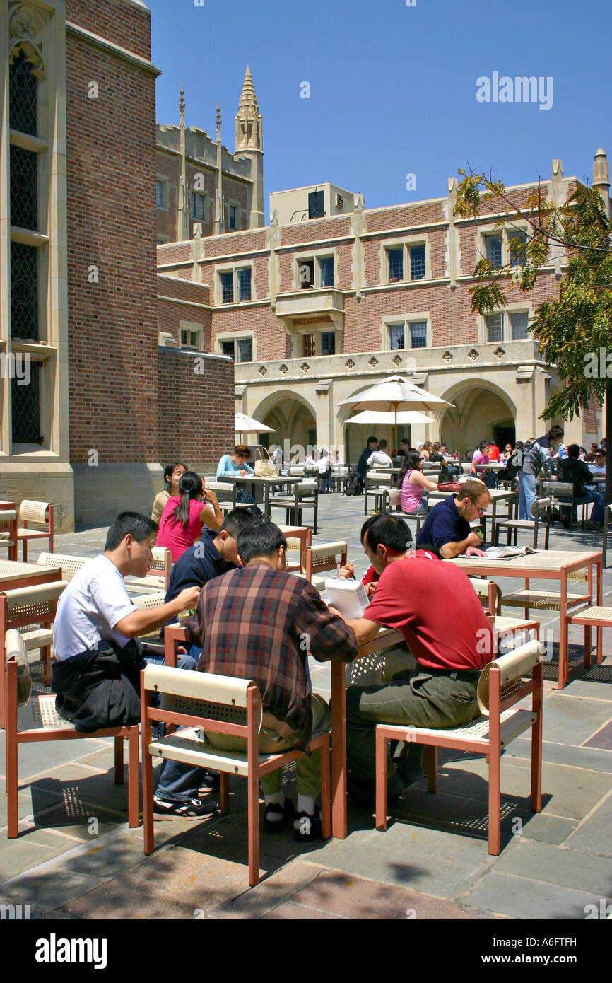 Asian Students At Campus Food Court University Of California Los Angeles