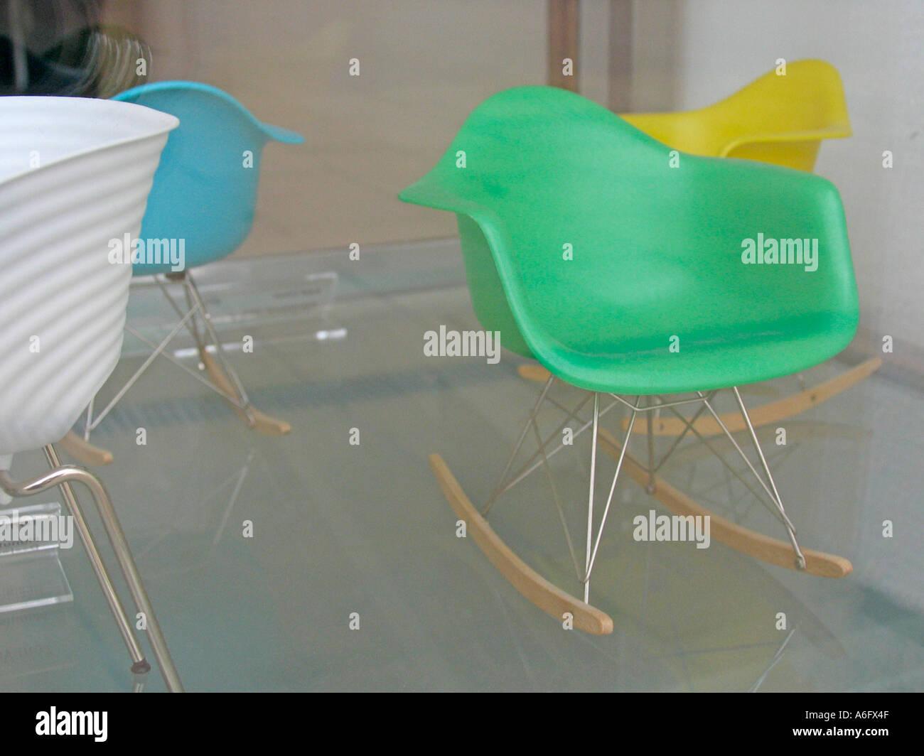 Miniature Eames rocking chair 2 Stock Photo