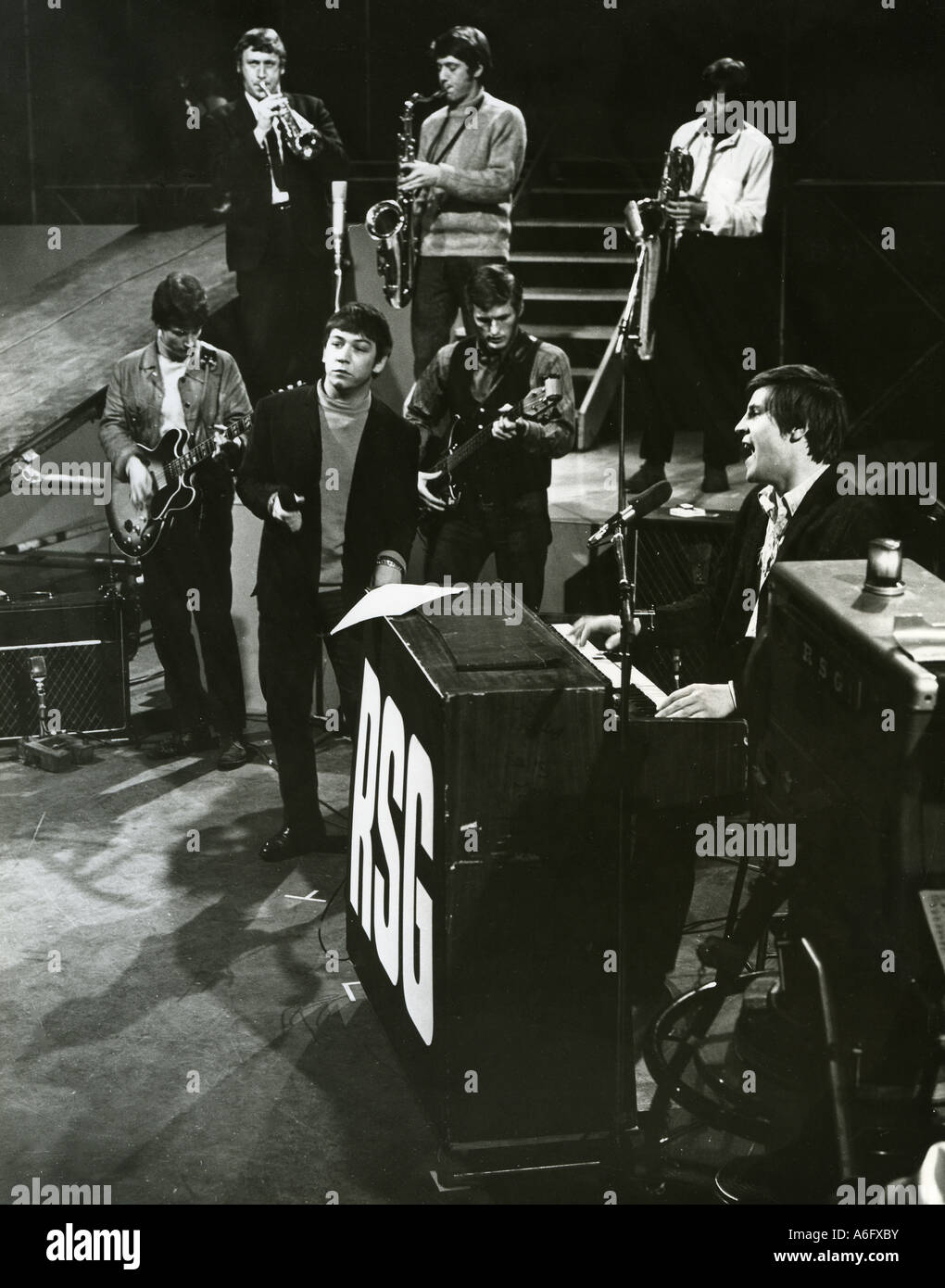 ERIC BURDON and Alan Price on TV s Ready Steady Go about 1967 - Stock Image