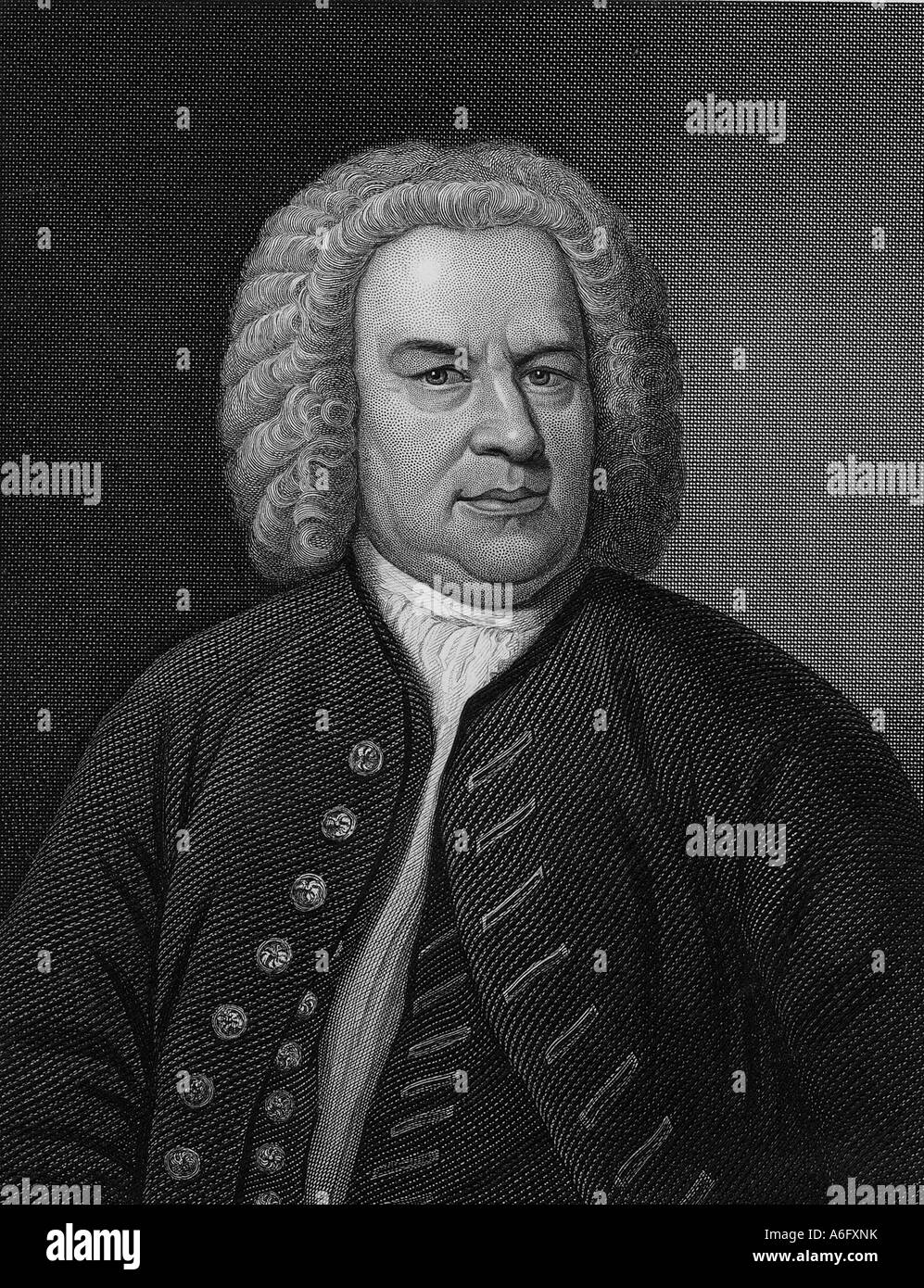 JOHANN SEBASTIAN BACH  German composer 1685 to 1750 - Stock Image