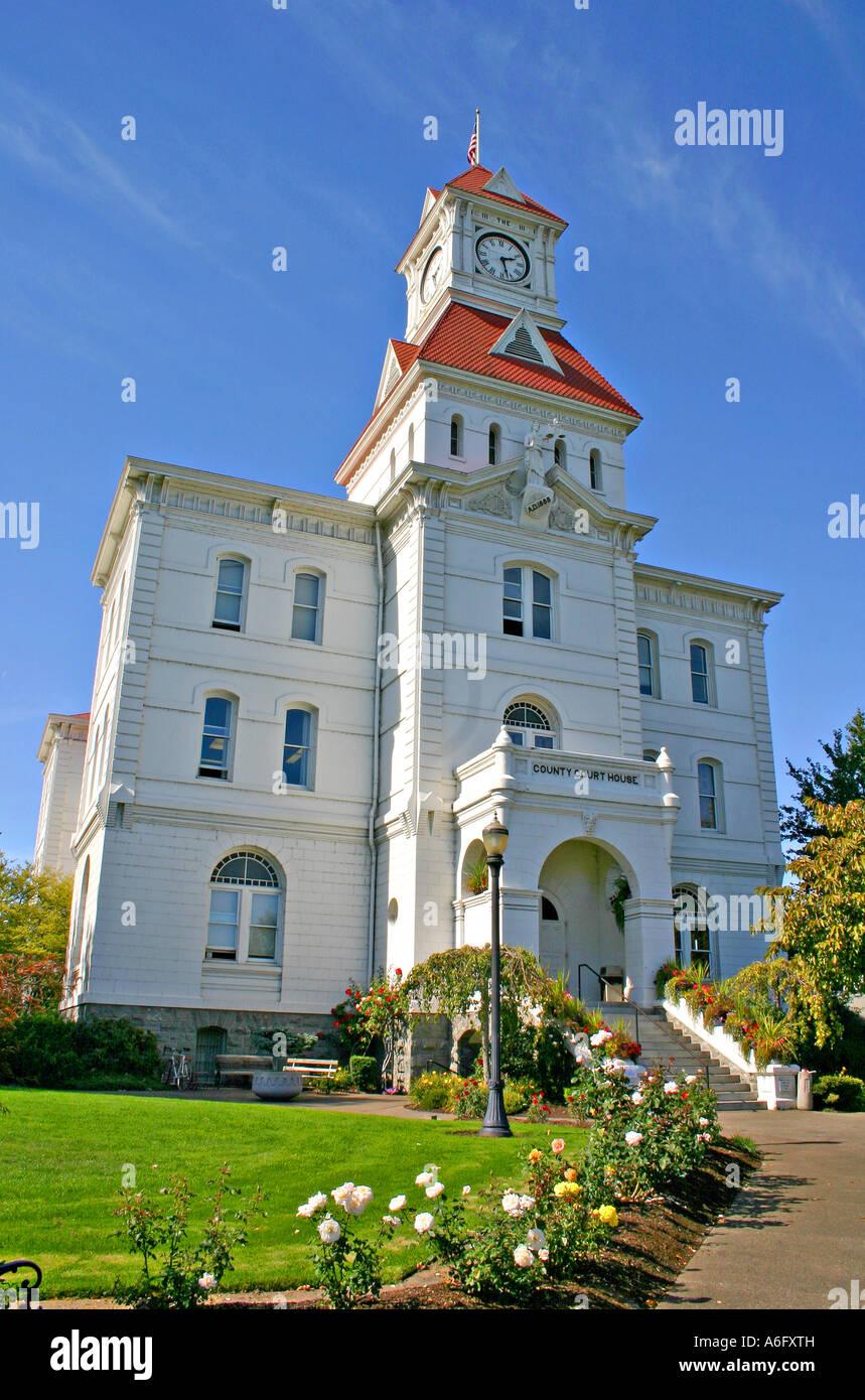 Historic Benton County Courthouse in Corvallis Oregon Stock