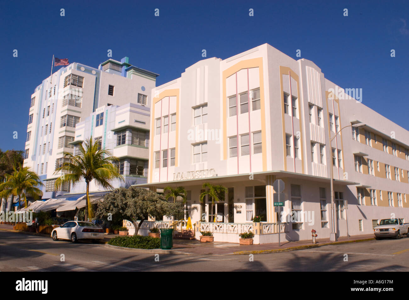 miami beach florida usa the majestic hotel on ocean drive in south