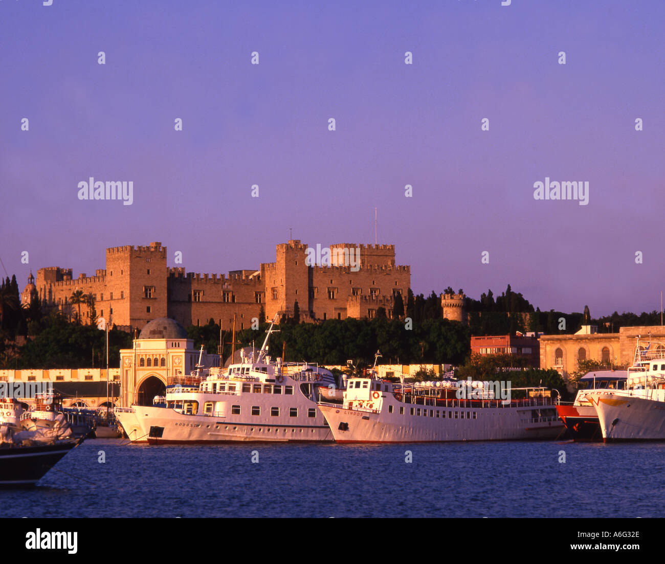 Greece Rhodos palace - Stock Image