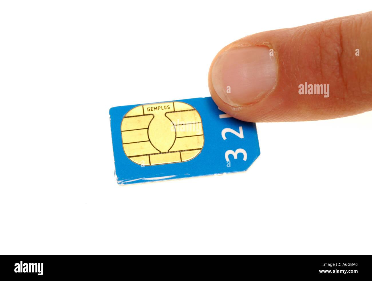 moblie telephone, simm card 32K Stock Photo
