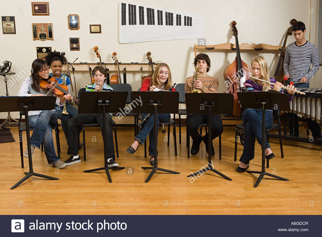 Band practice - Stock Image
