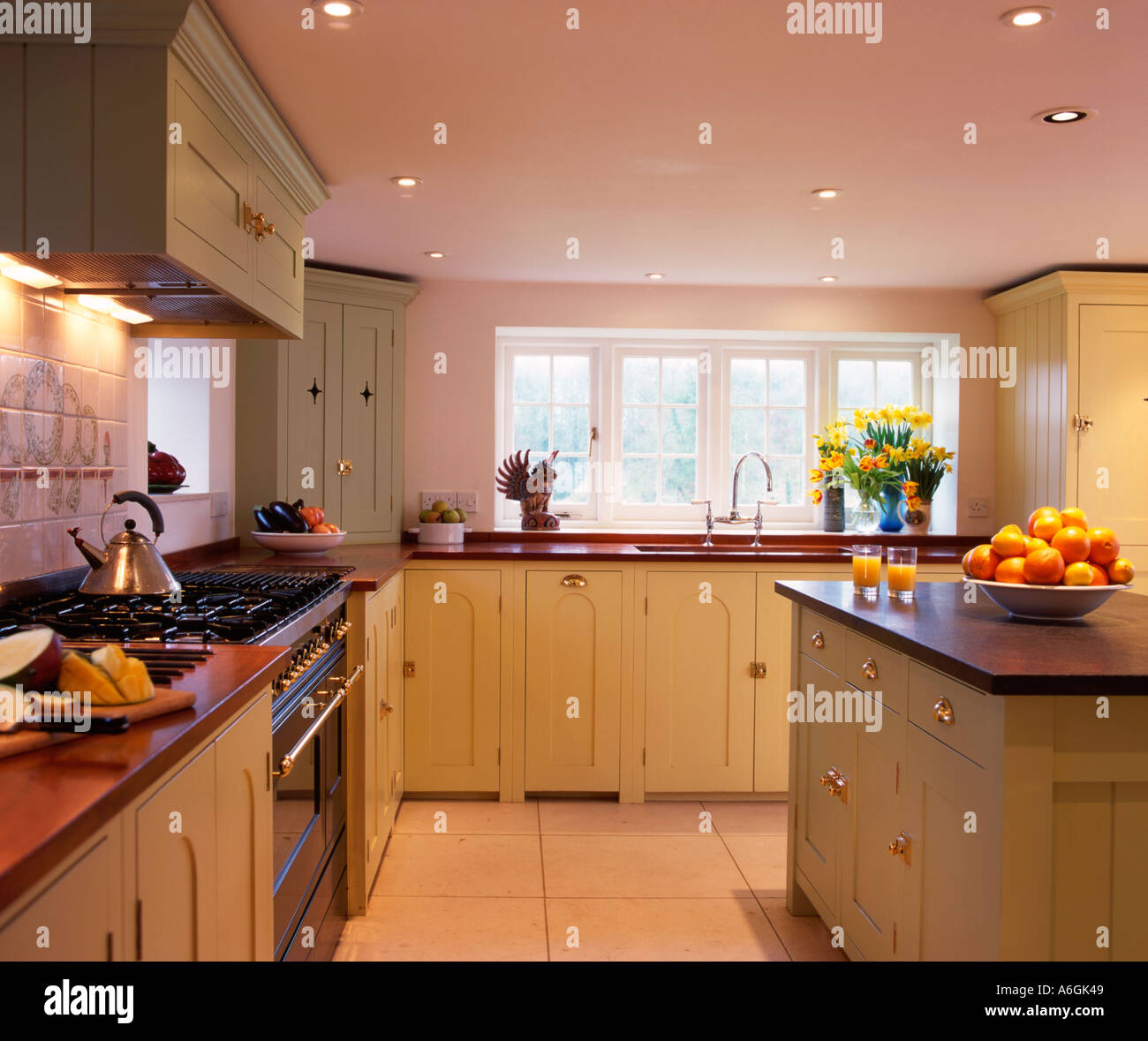 A Kitchen Interior With Spotlights UK