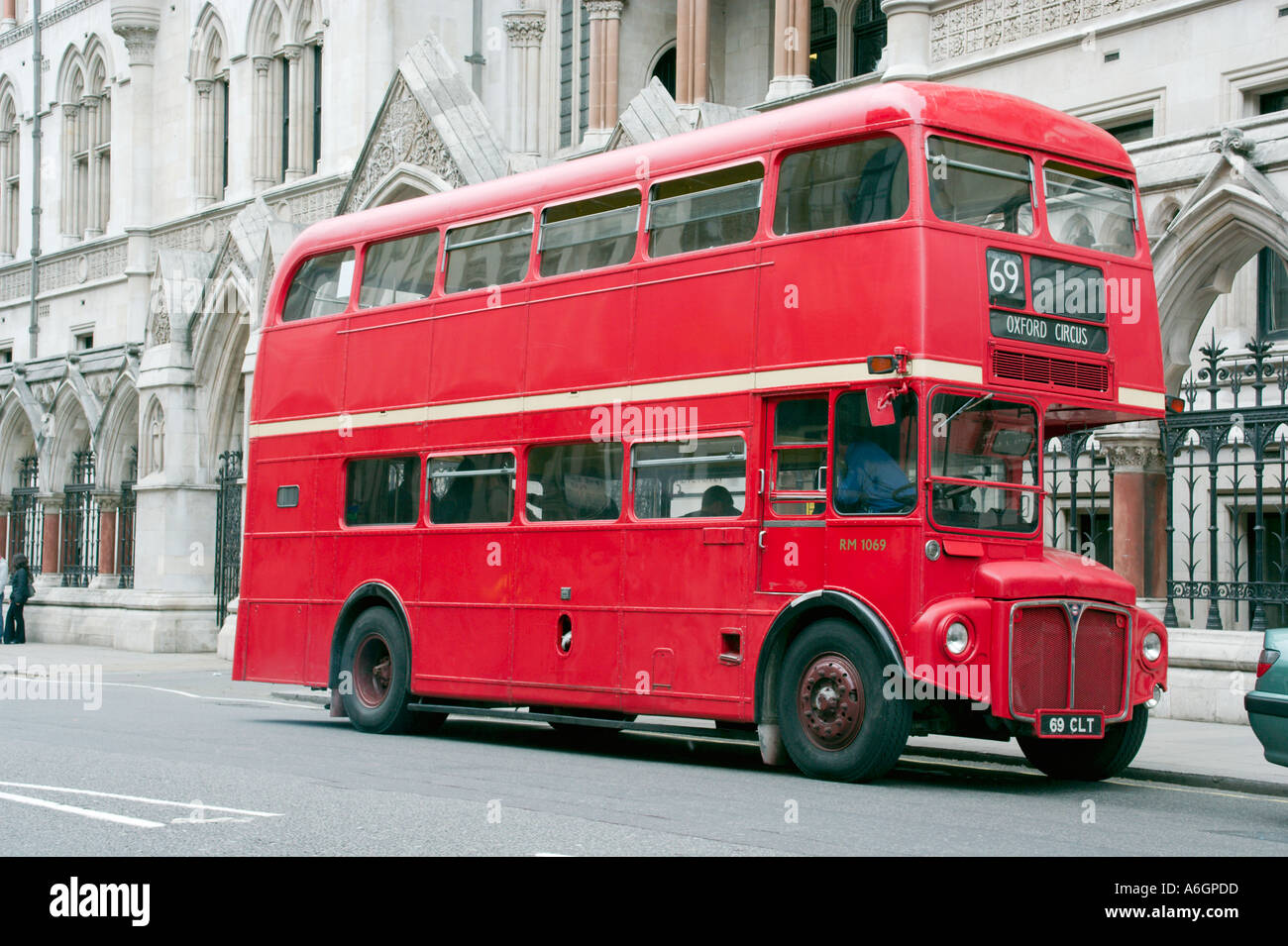 Double Decker Routemaster Red Bus in London England - Stock Image