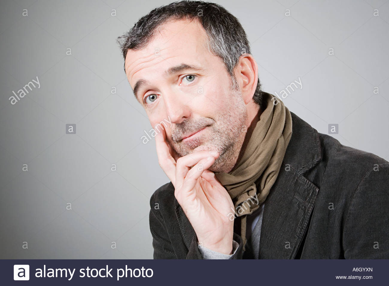 Wistful man - Stock Image