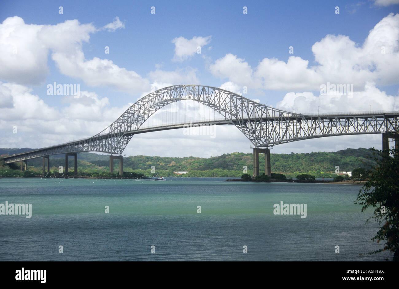 Bridge of the americas panama - Stock Image