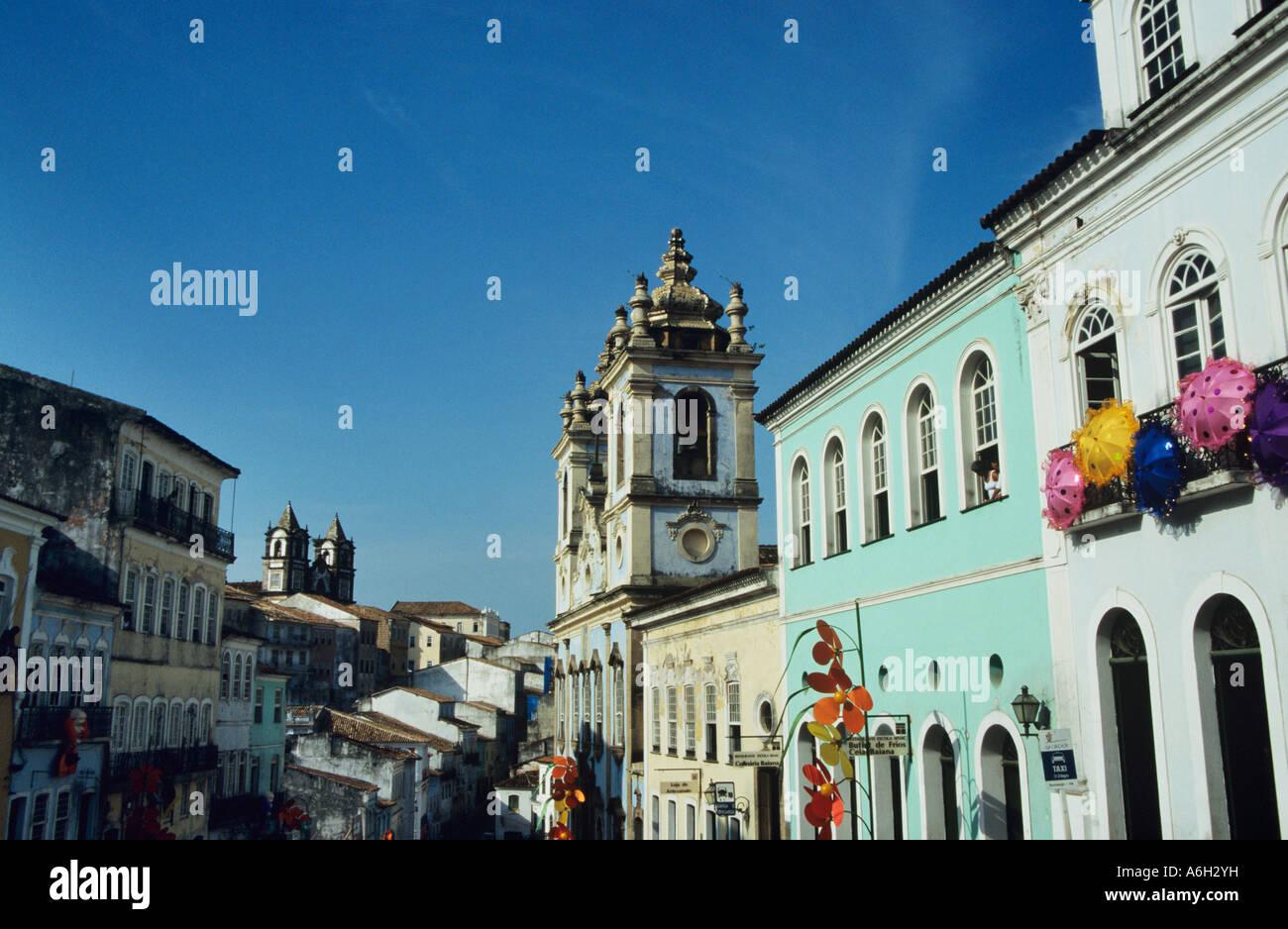 Street in salvador brazil - Stock Image