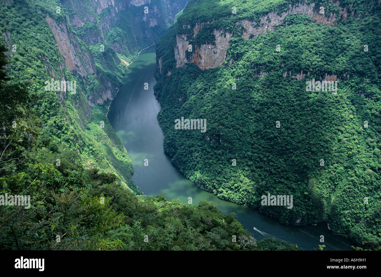 Canyon del Sumidero National park view from Mirador Chiapas Mexiko - Stock Image