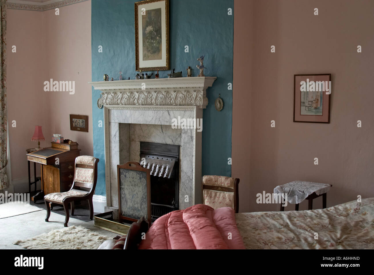 Bedroom In Interior Of Lissan House Home Of Hazel Dolling Co Tyrone Northern Ireland Uk Old Historic Buiding