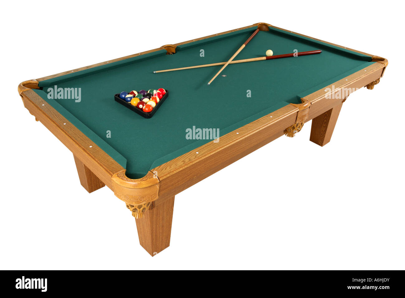 Pool Table Cut Out On White Background Stock Photo Alamy - White billiard table