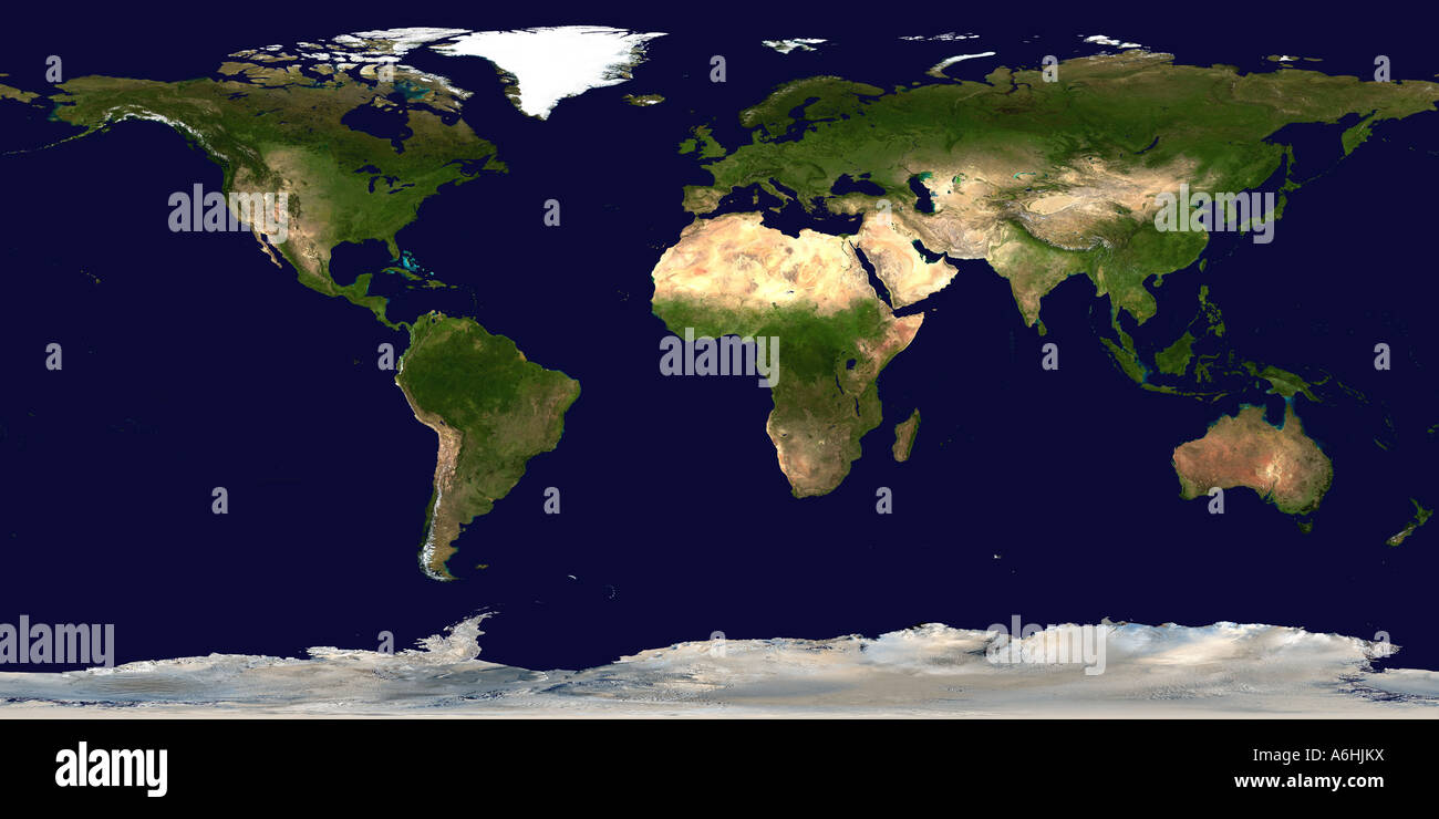 Map of Earth (Satellite Image) - Stock Image