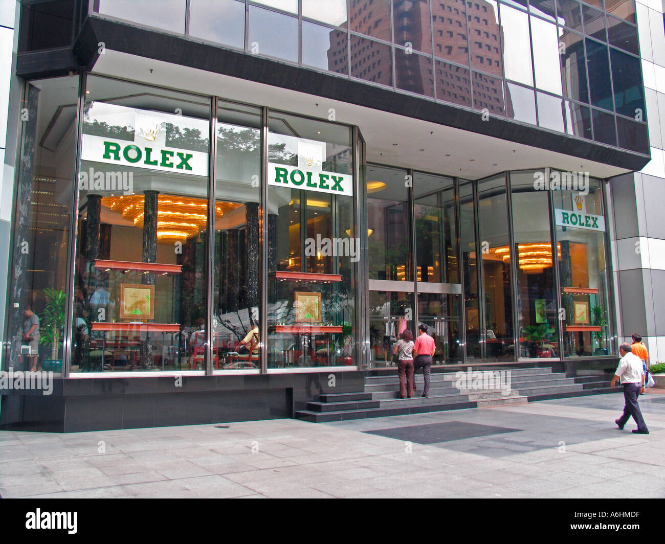 rolex watch store orchard road singapore stock photo