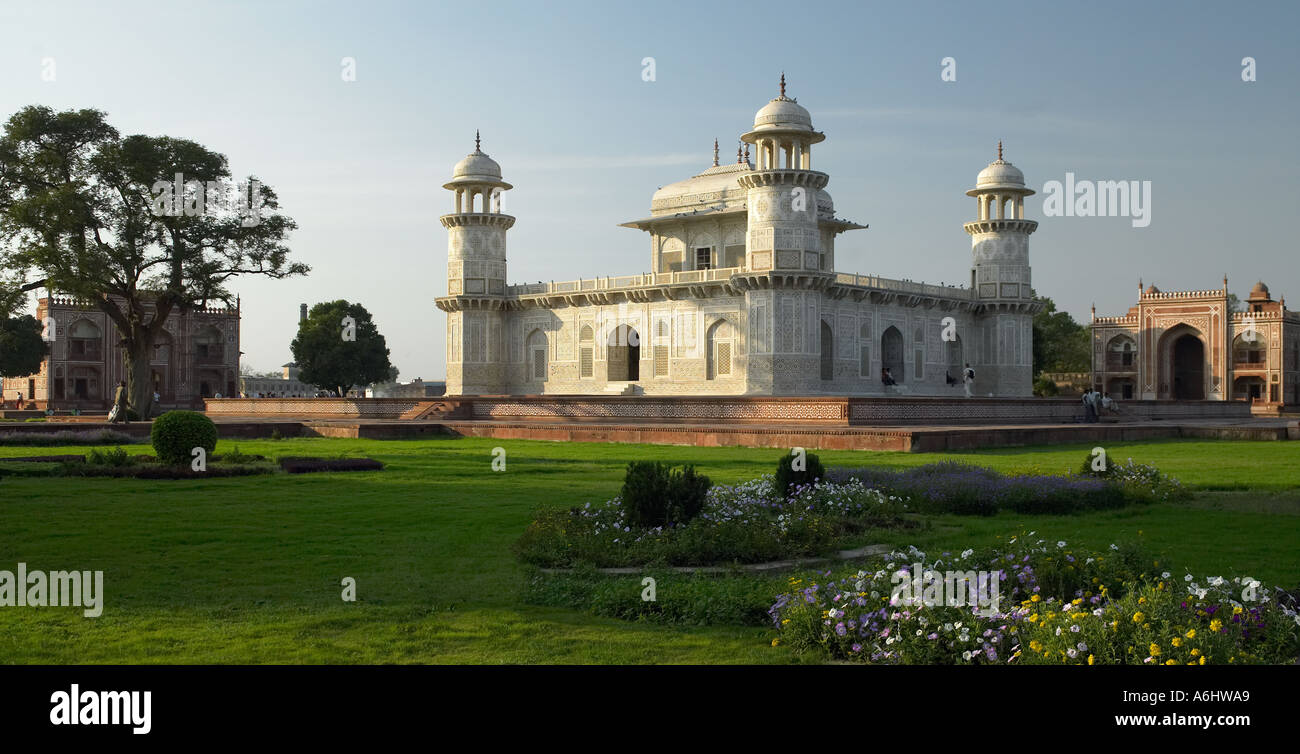 The Itimad ud Daulah or Baby Taj in Agra in Northern India Stock Photo