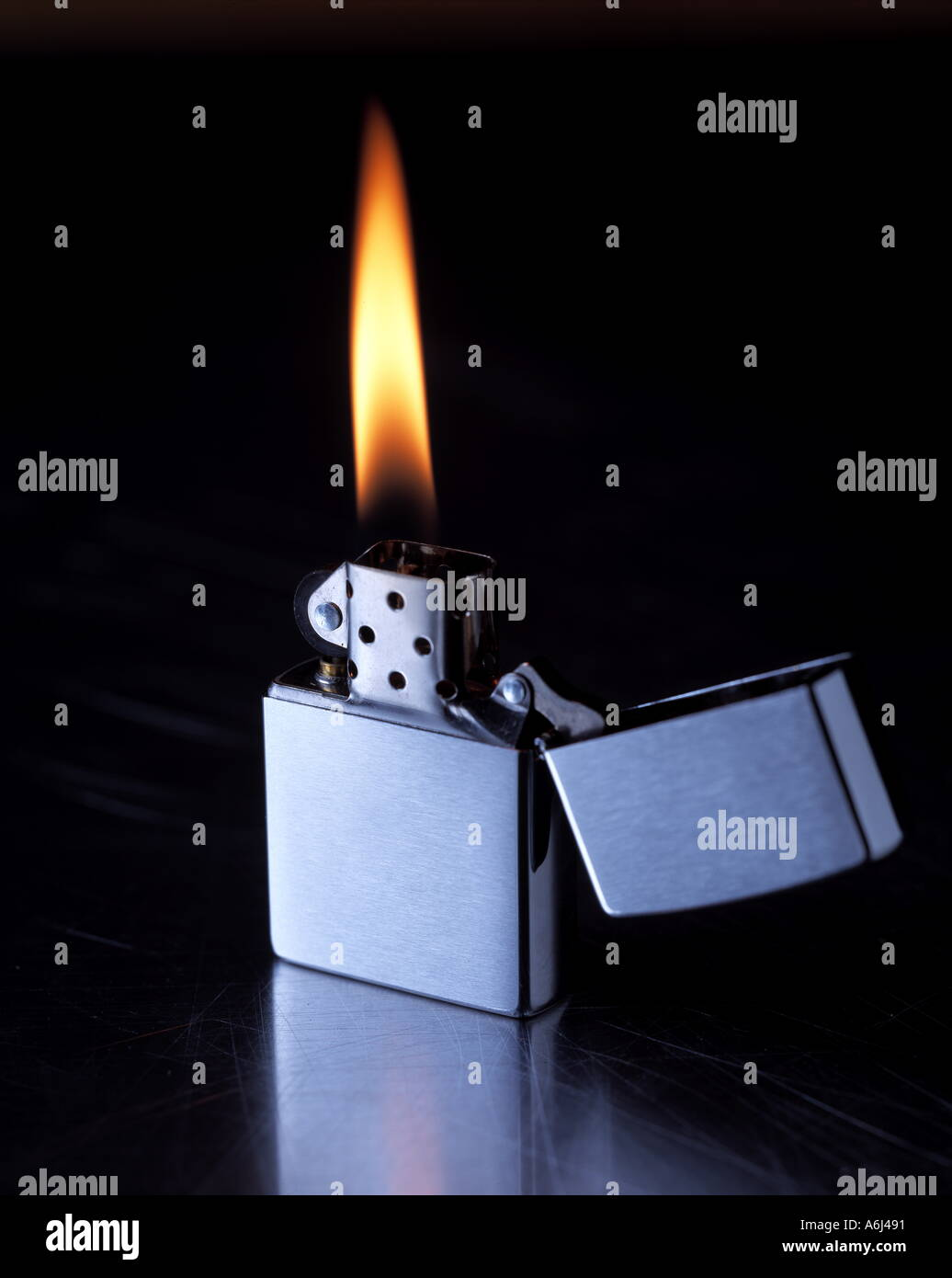 Zippo Lighter Flame Stock Photo 2139280