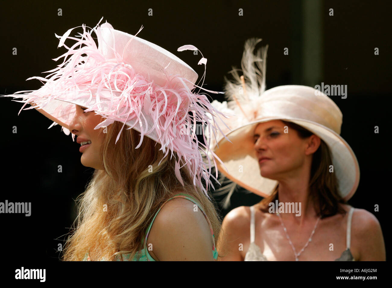 Chiara Ohoven at horse races, Iffezheim, Germany - Stock Image