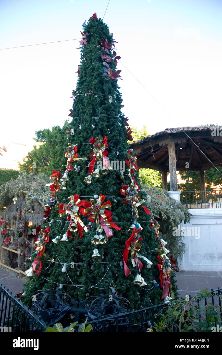 square plaza borda at christmas time taxco mexico stock image