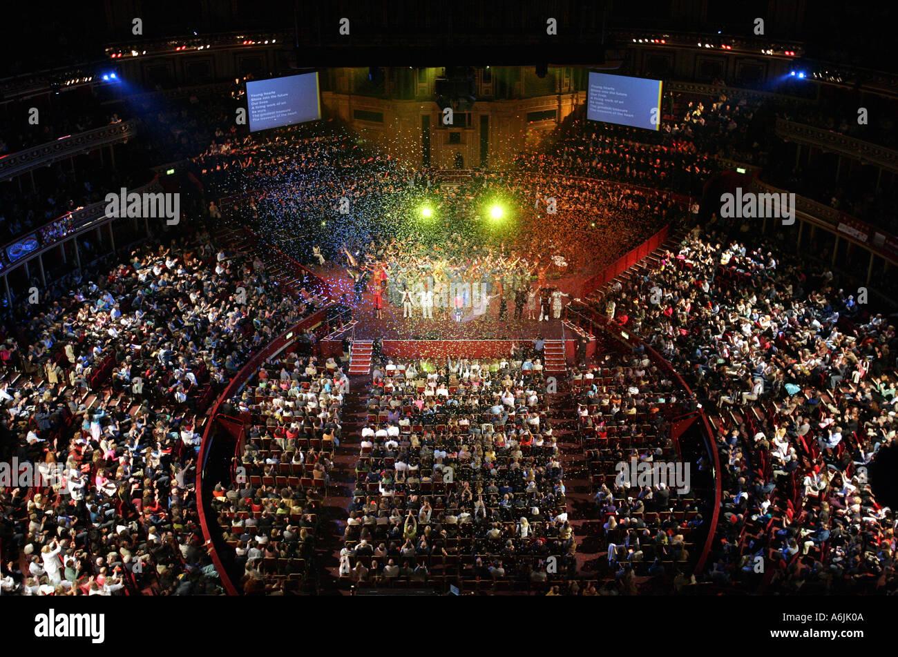 Soka Gakkai International general meeting Royal Albert Hall London England Britain UK - Stock Image