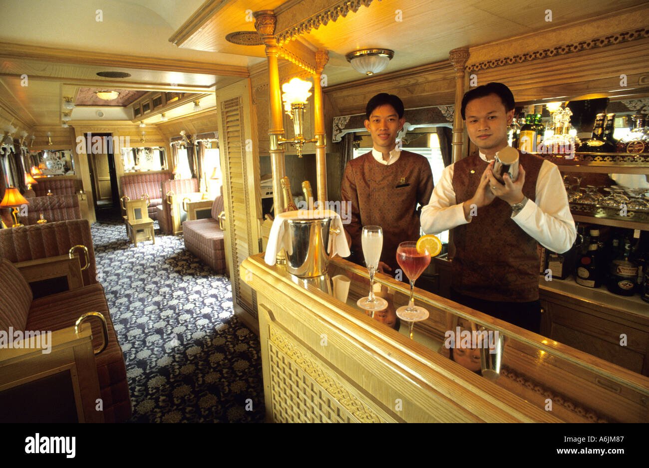 bar and stewards aboard the eastern and oriental express train stock photo 3783814 alamy. Black Bedroom Furniture Sets. Home Design Ideas
