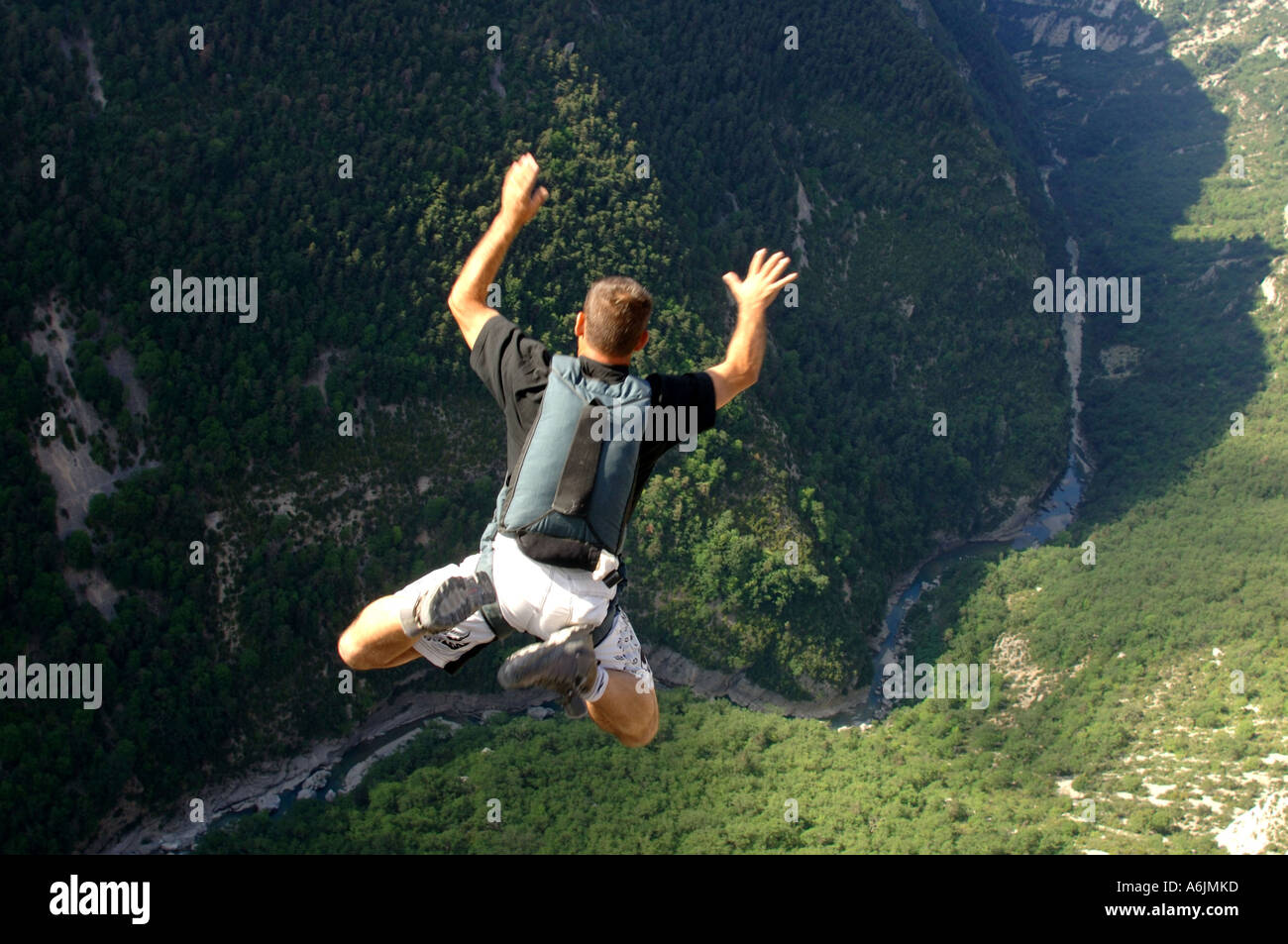 basejump in the french alps, France - Stock Image