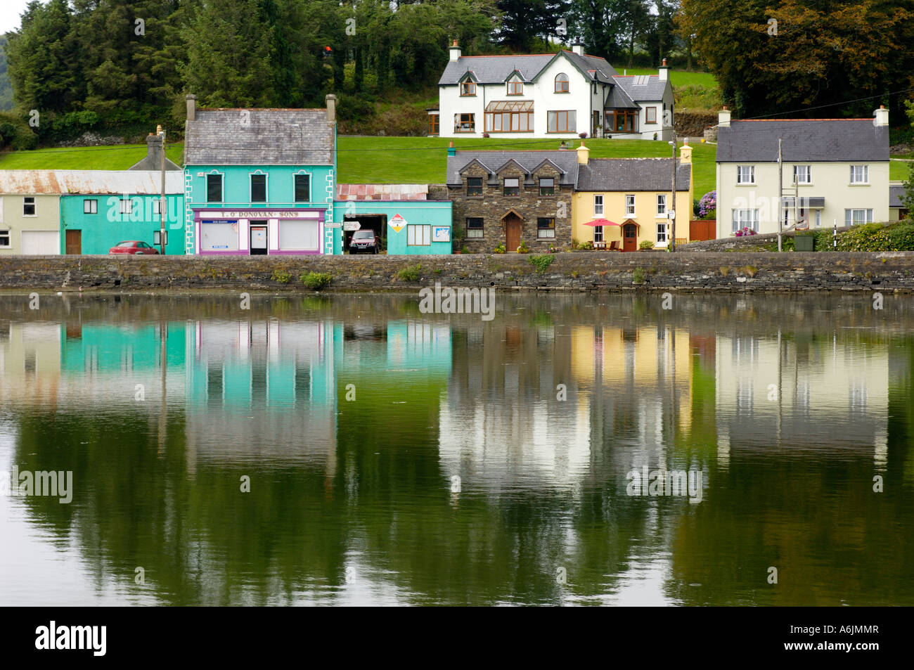 Waterfront Union Hall West Cork Ireland - Stock Image