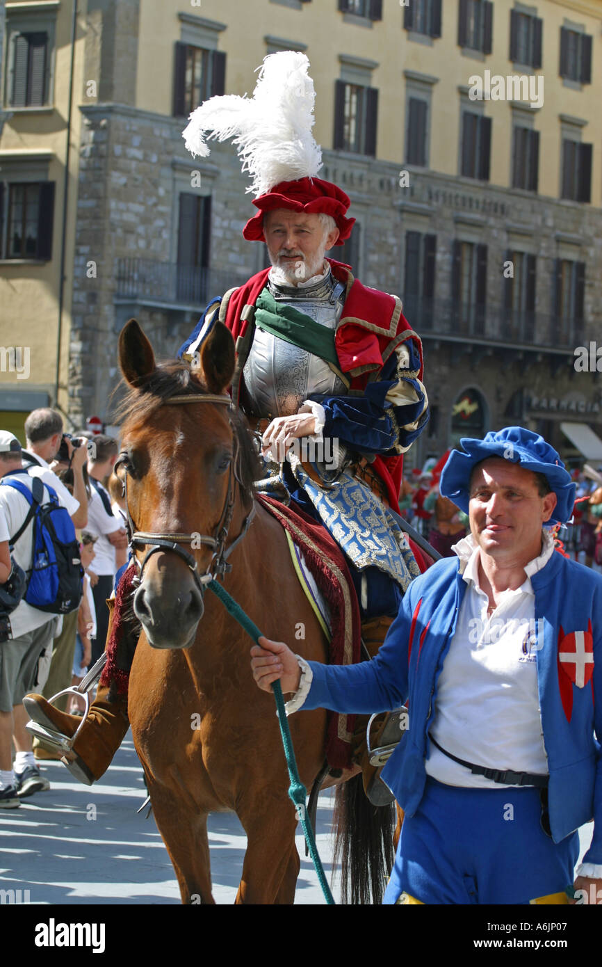 Costume football game procession Florence Italy Stock Photo