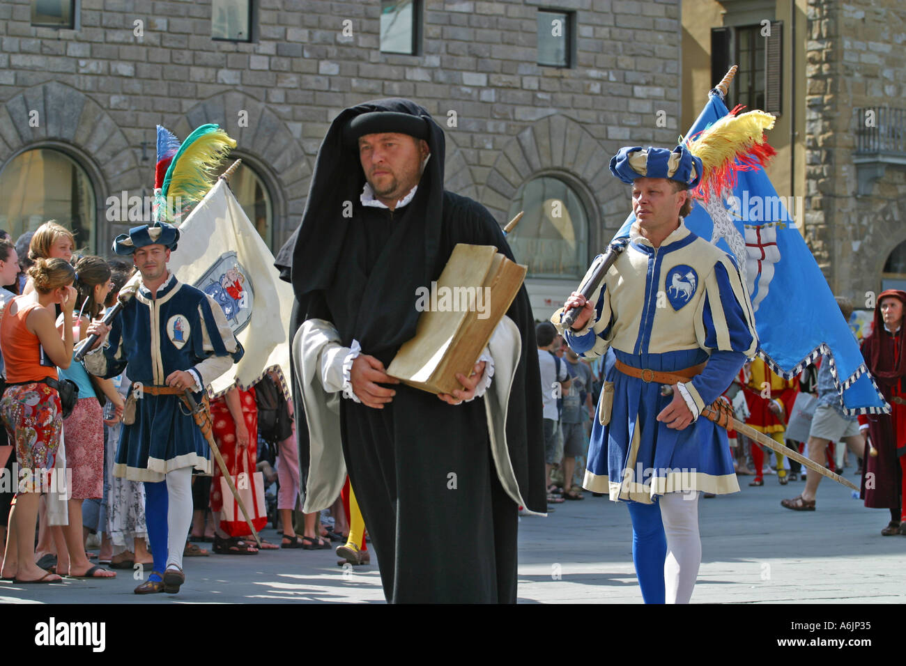 The  Costume  football game procession Florence Italy Stock Photo