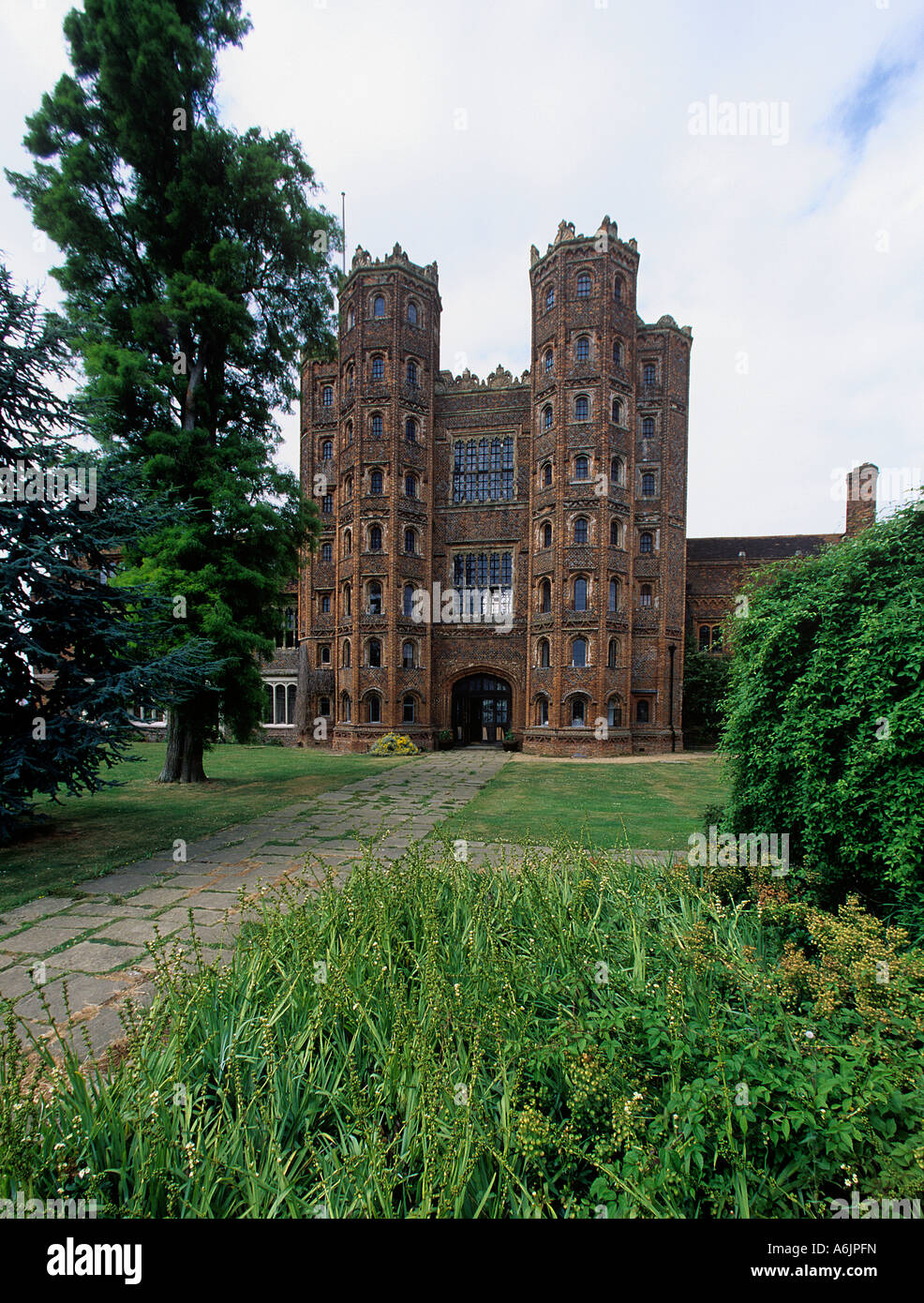 The 80 foot Tower at Layer Marney built in 1500 by Sir Henry Marney who died in 1523 Seven miles SW of Colchester - Stock Image