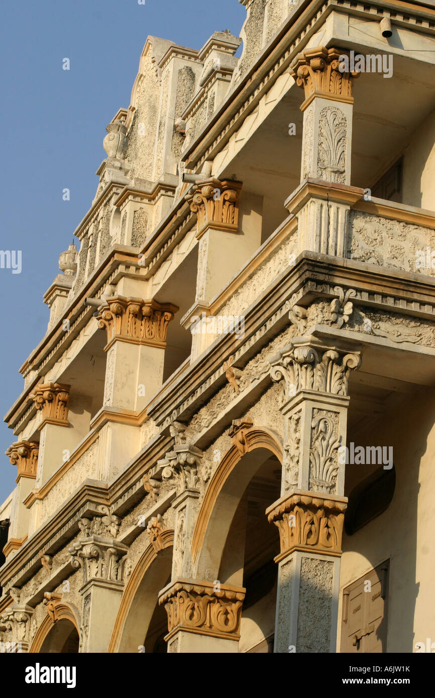 Ornate Haveli or Merchants house in the old city Ahmedabad Gujarat,India - Stock Image