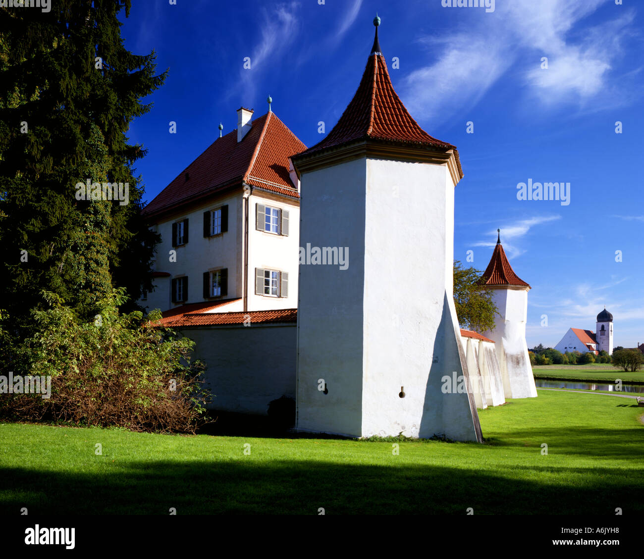 D  BAVARIA:  Blutenburg Castle at Munich - Stock Image