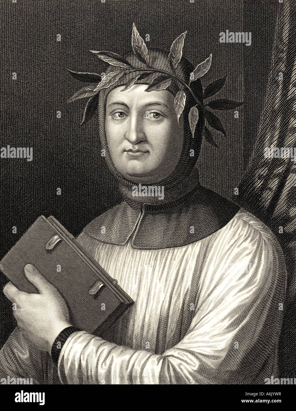 FRANCESCO PETRARCH Italian scholar poet and humanist 1304 to 1374 - Stock Image