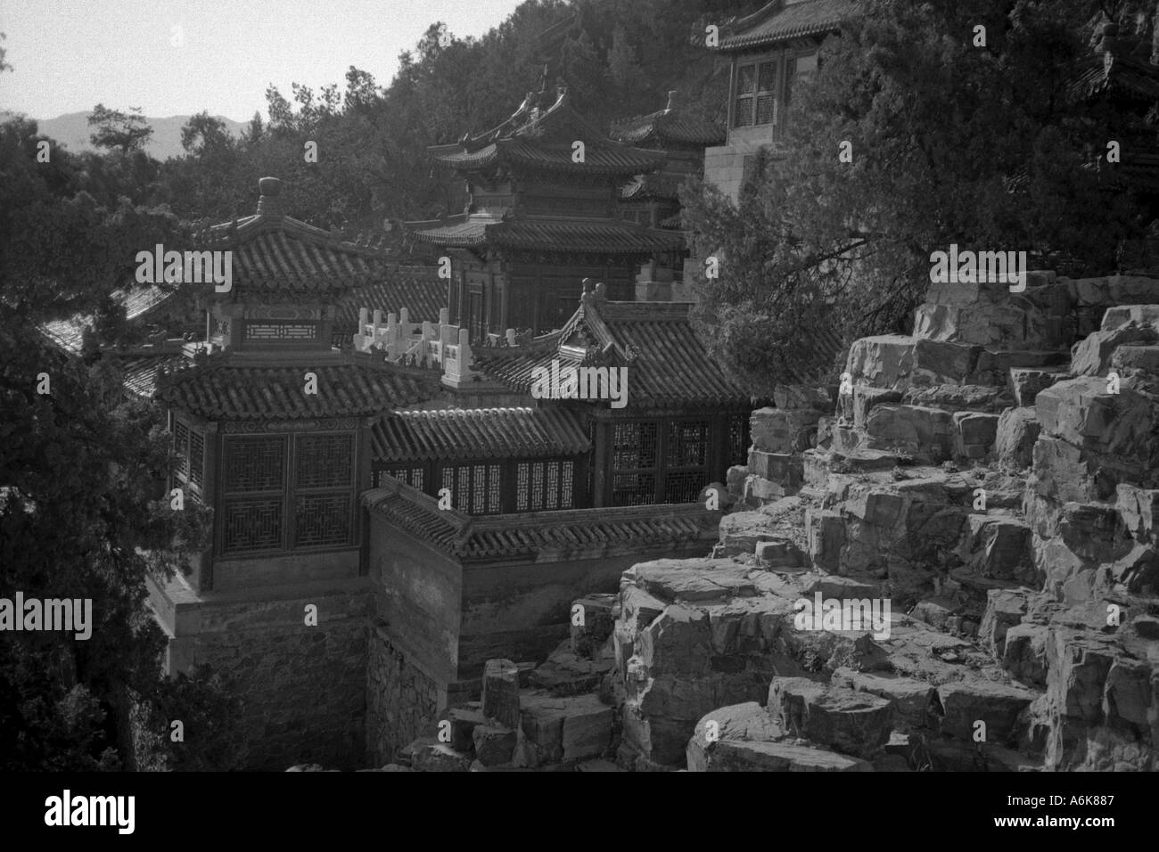 Longevity Hill Summer Palace UNESCO World Heritage Site Beijing Peking China Chinese Asian Asiatic Asia - Stock Image