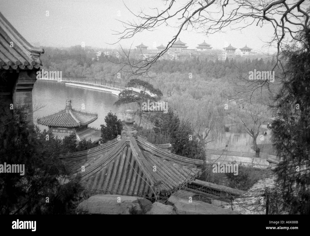 Kunming Lake Summer Palace UNESCO World Heritage Site Beijing Peking China Chinese Asian Asiatic Asia - Stock Image