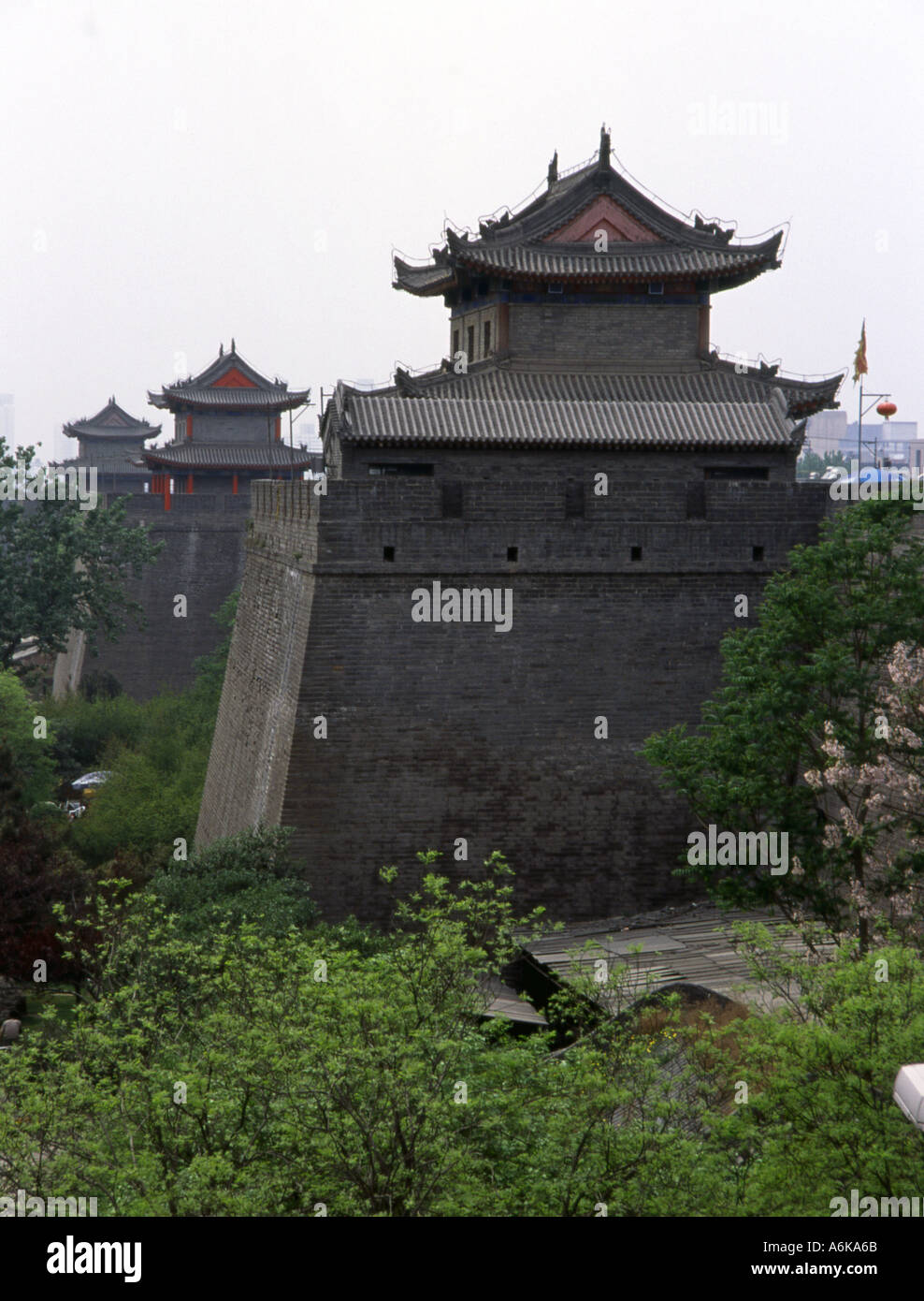 City Walls Xi'an Xian Great Ancient Capital of China Shaanxi