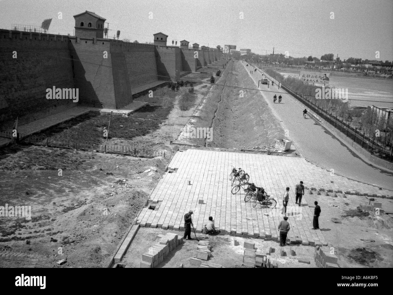 City Walls Pingyao UNESCO World Heritage Site Shanxi China Chinese Asian Asiatic Asia - Stock Image