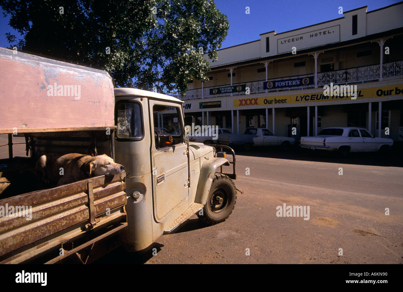Possibly in for a long wait Blackall Channel Country Queensland Australia Horizontal - Stock Image