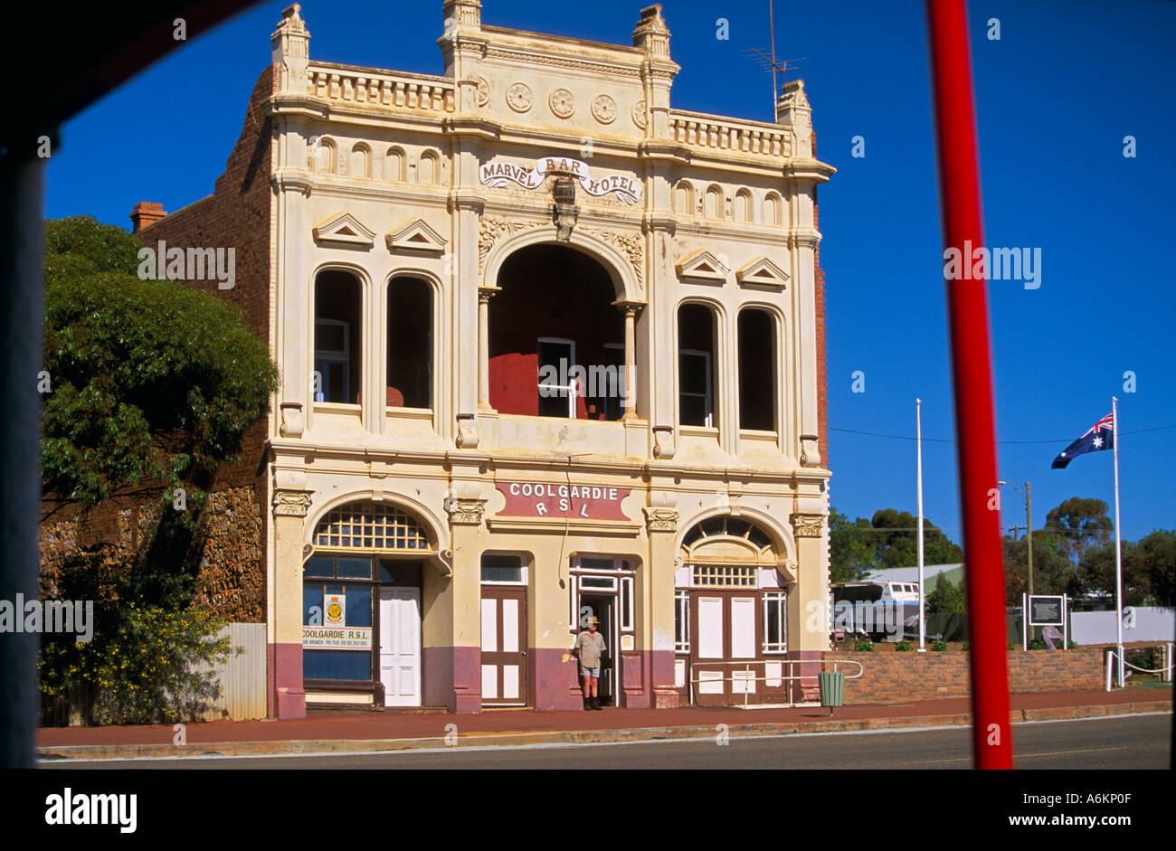 Coolgardie RSL Club, Western Australia - Stock Image