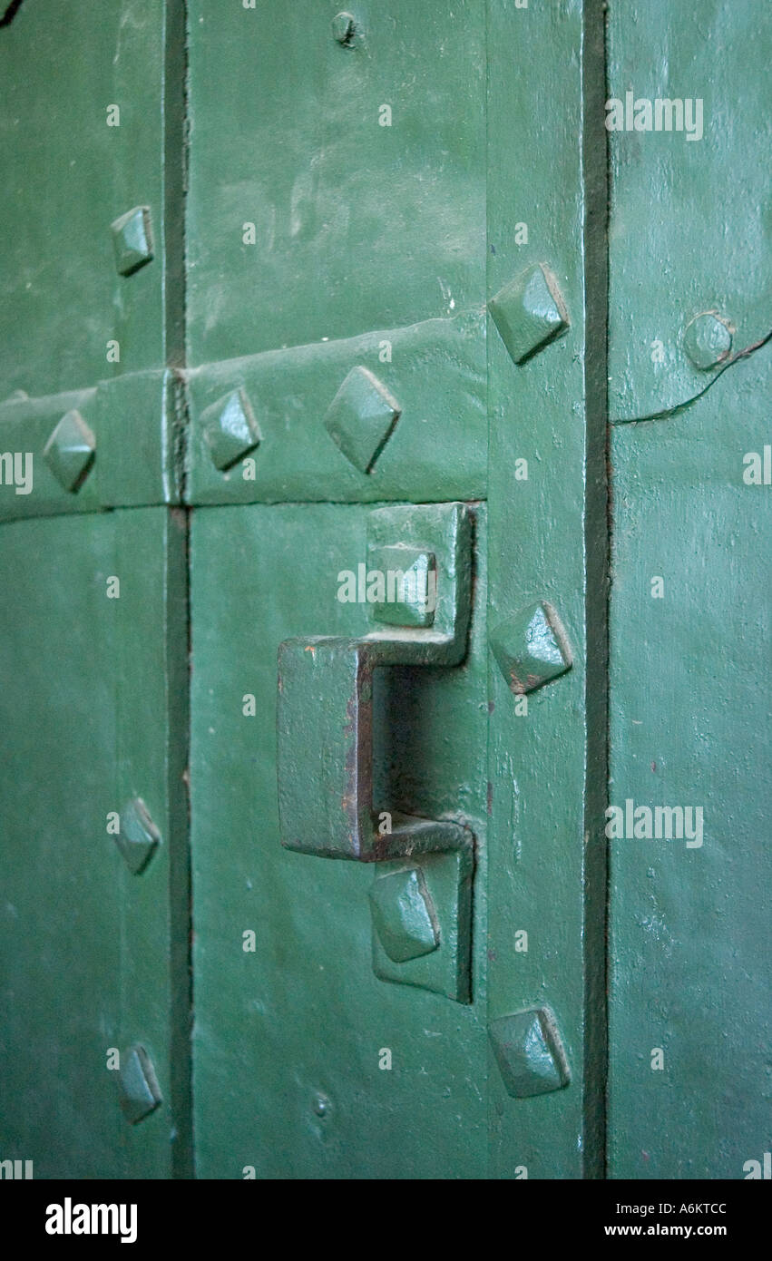Close up of an old door inside Saint Basil s Cathedral in Red Square Moscow Stock Photo