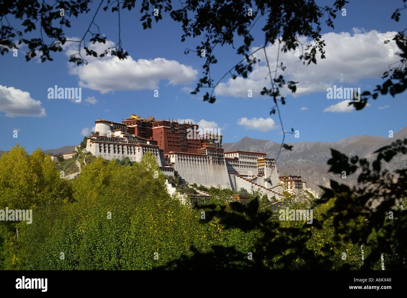 Potala Palace Lhasa Tibet China - Stock Image
