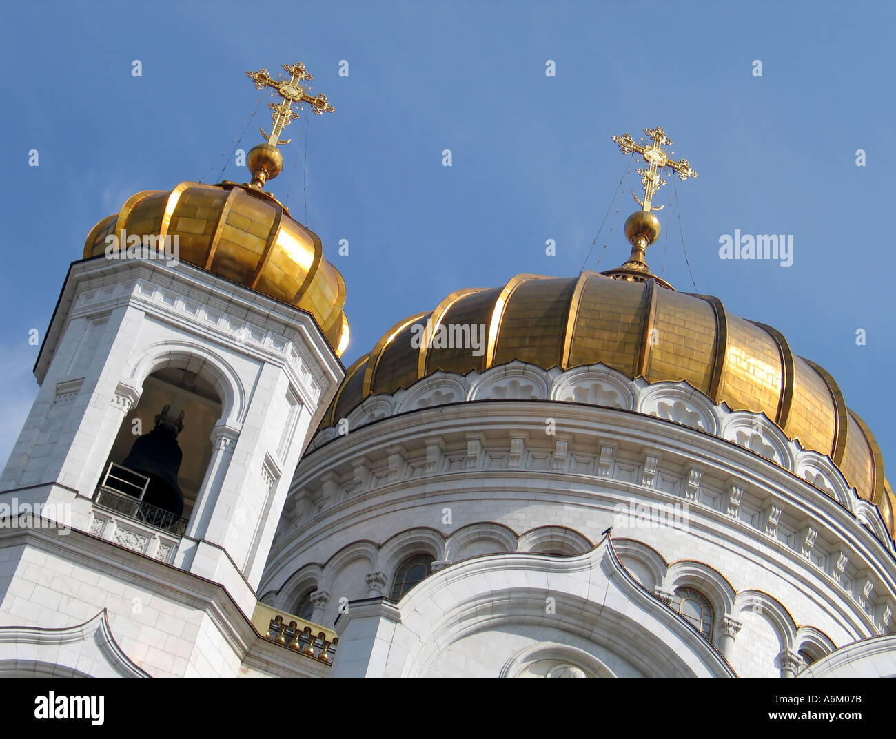 The Christ the Saviour Church in Moscow Russia - Stock Image
